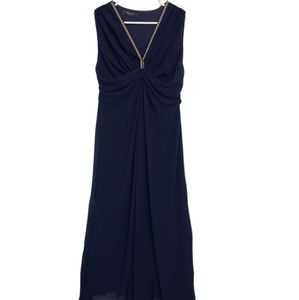 Navy Flowy Maxi Dress